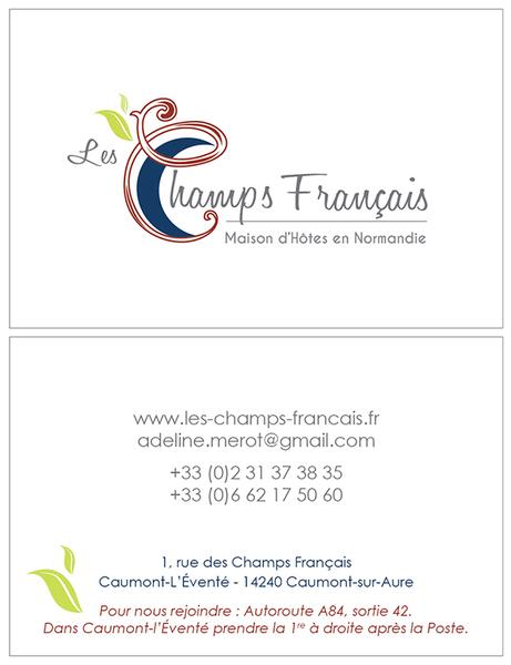 Carte De Visite Les Champs Franais 85 X 55 Mm