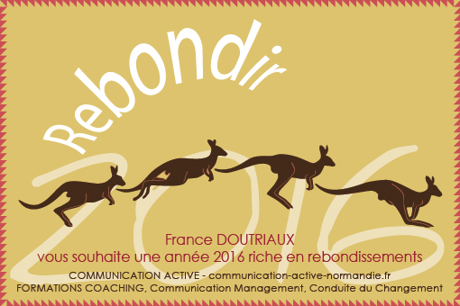 "Carte de vœux ""Communication Active"" 150 x 100 mm - Recto"