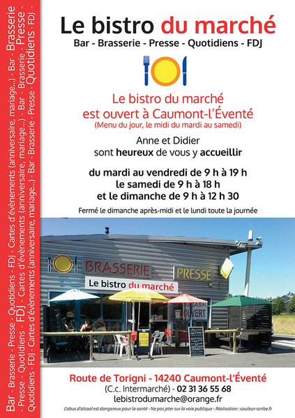"Flyer A5 ""Le bistro du marché"" - 150 x 210 mm - Recto"
